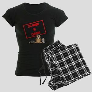 Im Made In Canada White Women's Dark Pajamas