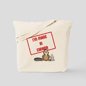 Im Made In Canada White Tote Bag