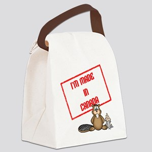 Im Made In Canada White Canvas Lunch Bag