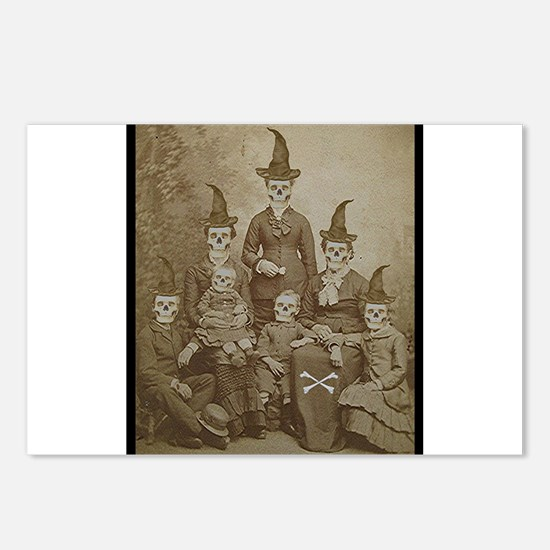 Victorian Skeleton Family Goth Dark Altered Art Po