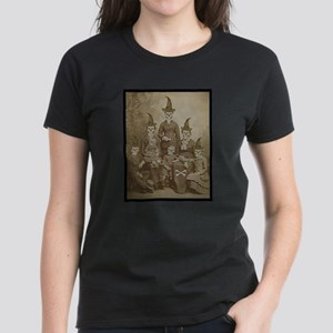 Victorian Skeleton Family Goth Dark Altered Art T-