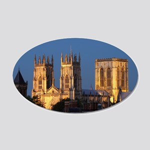 York Minster 20x12 Oval Wall Decal
