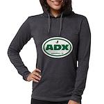 Adx Womens Hooded Shirt Long Sleeve T-Shirt