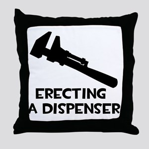 Erecting a Dispenser Throw Pillow