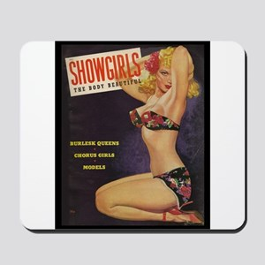 Showgirls Retro Pin Up Burlesque Dancer Mousepad