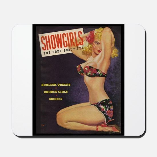 Showgirls Retro Pin Up Burlesque Dancer Mousepad
