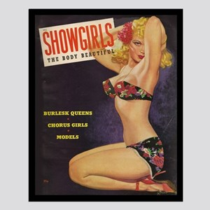 Showgirls Retro Pin Up Burlesque Dancer Posters