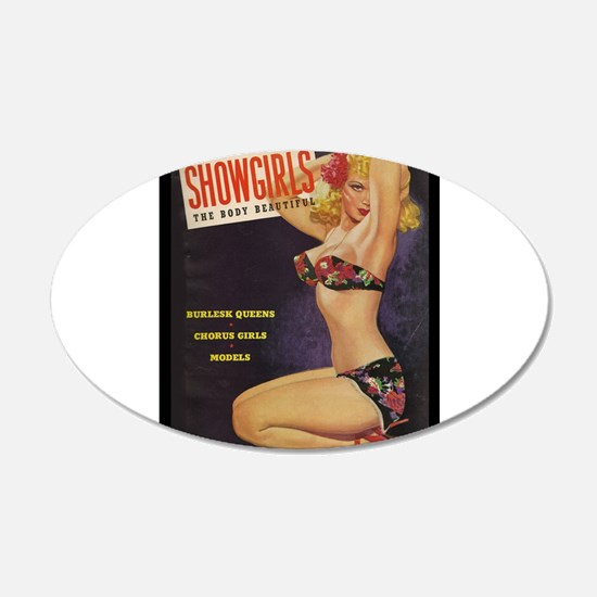 Showgirls Retro Pin Up Burlesque Dancer Wall Decal