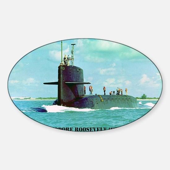 troosevelt large framed print Sticker (Oval)