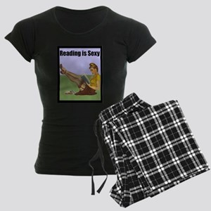 Reading is Sexy Pin Up With Book Hot Nerd Pajamas