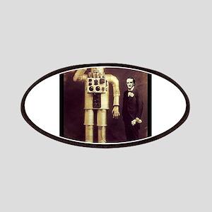 Edgar Allan Poe with Robot Altered Art Sci Fi Goth