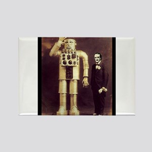 Edgar Allan Poe with Robot Altered Art Sci Fi Goth