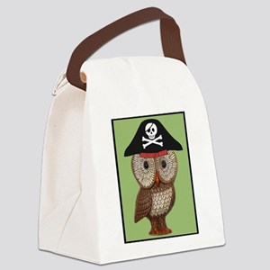 Pirate Owl Whimsical Kitsch Kawaii Canvas Lunch Ba