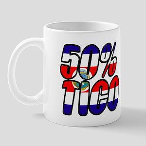 50% tico costa rica Mug