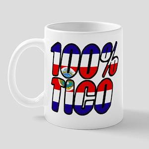 100% tico costa rica Mug