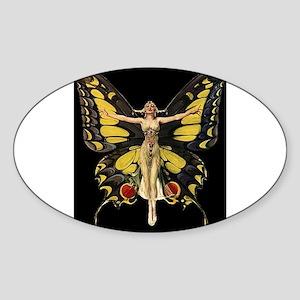 Art Deco Butterfly Flapper Jazz Age 1920s Sticker