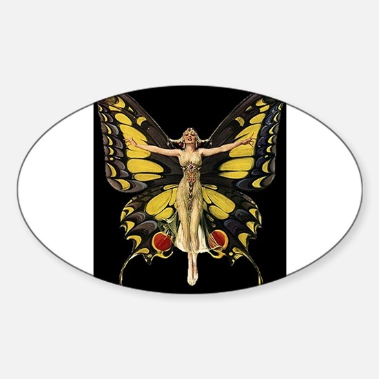 Art Deco Butterfly Flapper Jazz Age 1920s Decal