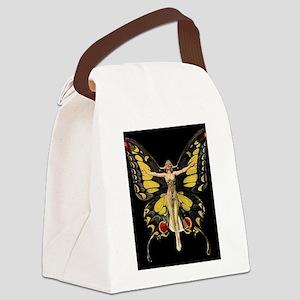 Art Deco Butterfly Flapper Jazz Age 1920s Canvas L