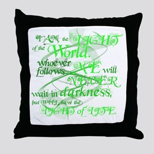 LightOfTheWorld2 Throw Pillow