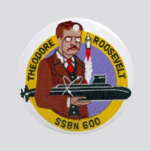 troosevelt patch transparent Round Ornament