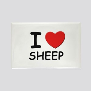I love sheep Rectangle Magnet