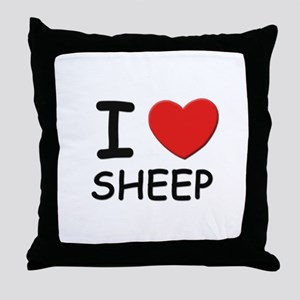 I love sheep Throw Pillow