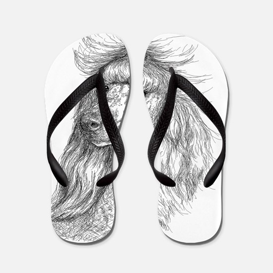 poodleHead_001 Flip Flops