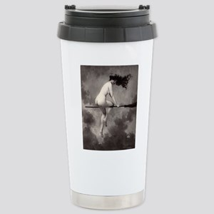 Victorian Risque Witch on Broomstick Travel Mug