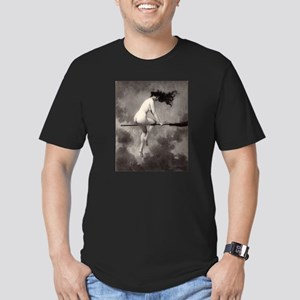 Victorian Risque Witch on Broomstick T-Shirt