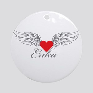 Angel Wings Erika Ornament (Round)