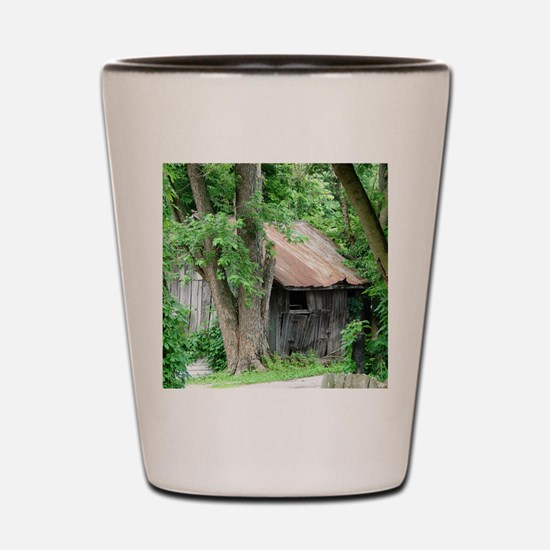 Rustic Shed Shot Glass
