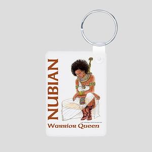 Nubian Warrior Queen2 Aluminum Photo Keychain