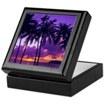 Purple Tropical Sunset 3 Keepsake Box