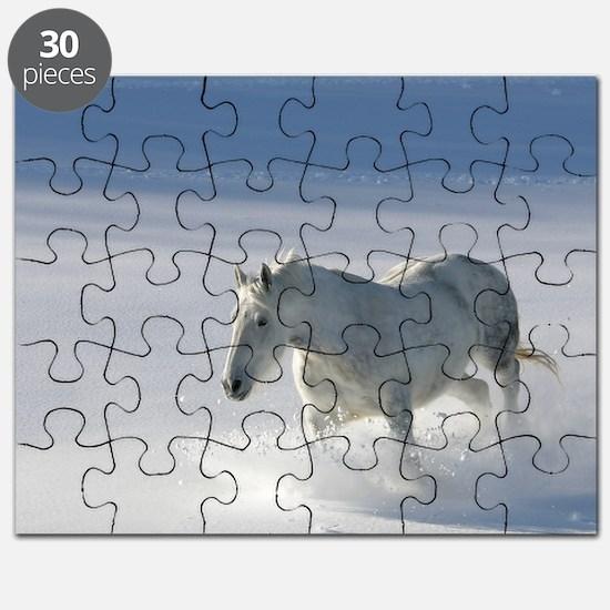 Kasey in snow Puzzle