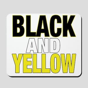 BLACKNYELLOWD Mousepad
