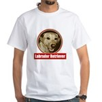 Labrador Retriever White T-Shirt