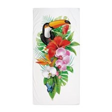 Tropical Toucan Collage (right) Beach Towel