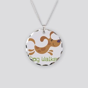 DogWalker Necklace Circle Charm