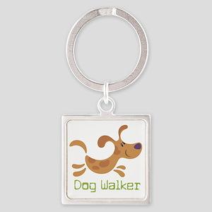 DogWalker Square Keychain