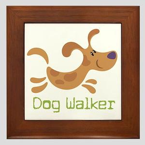 DogWalker Framed Tile