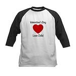 Valentines Day Love Child Kids Baseball Jersey