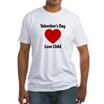 Valentines Day Love Child Fitted T-Shirt