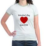 Valentines Day Love Child Jr. Ringer T-Shirt