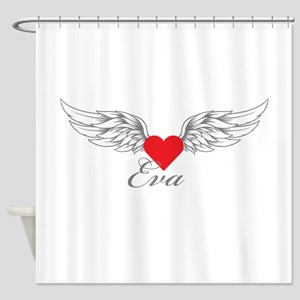 Angel Wings Eva Shower Curtain