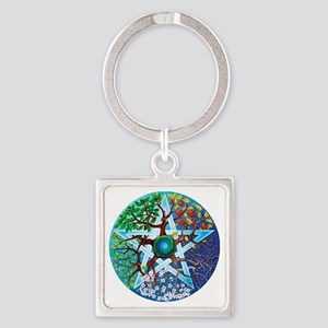 2-20061229-pentacle-seasons Square Keychain