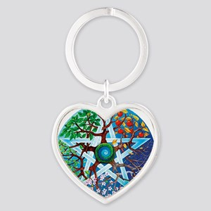 2-20061229-pentacle-seasons Heart Keychain