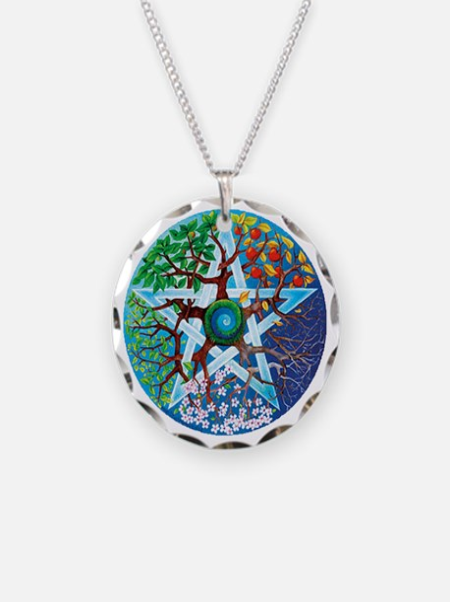 2-20061229-pentacle-seasons Necklace Circle Charm