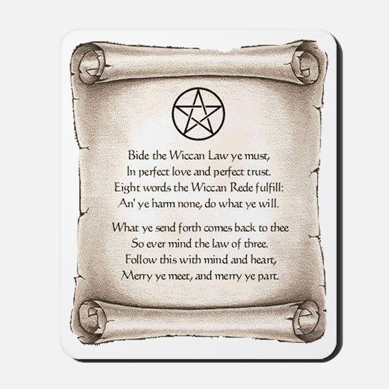 rede-wicca Mousepad