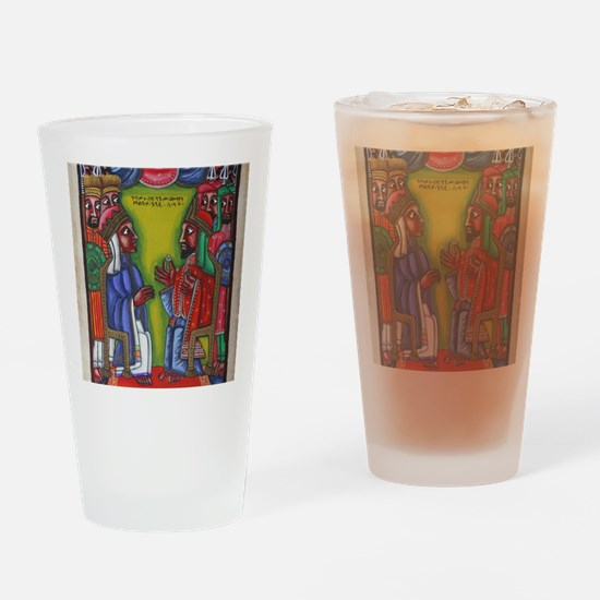 Ethiopian orthodox Queen of Saba Ic Drinking Glass