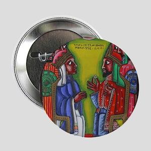 "Ethiopian orthodox Queen of Saba Icon 2.25"" Button"